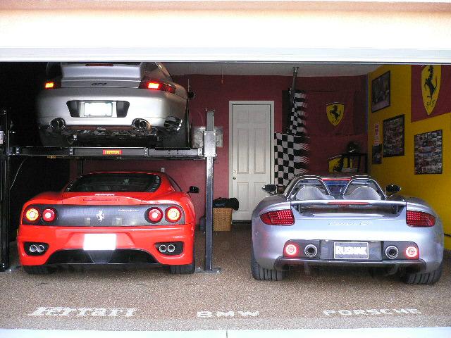 Des garages de r ve for Carrelage lamborghini